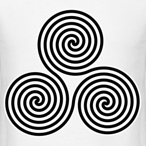 triple Spirals Symbol - Men's T-Shirt