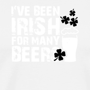 i've been irish for many beers st patricks day - Men's Premium T-Shirt