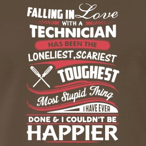Falling In Love With A Technician Tee Shirt - Men's Premium T-Shirt