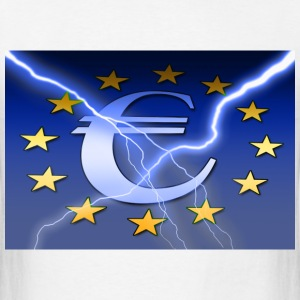 European Union Lightning Flag - Men's T-Shirt