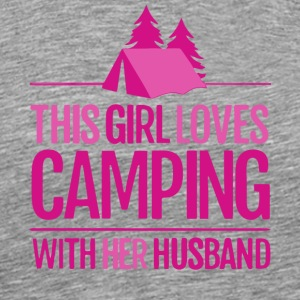 This Girl Loves Camping With Her Husband T Shirt - Men's Premium T-Shirt