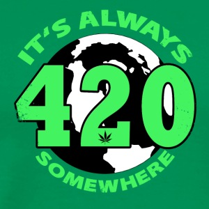 It's always 420 Somewhere - Men's Premium T-Shirt