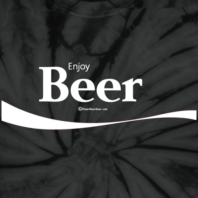 Enjoy Beer Unisex Tie Dye T-Shirt