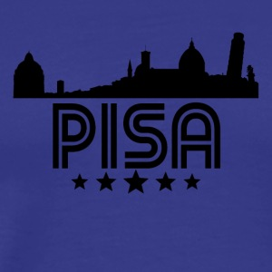 Retro Pisa Skyline - Men's Premium T-Shirt