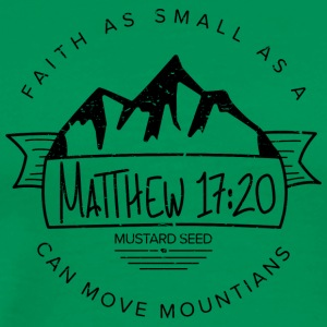 Matthew 17:20 (Black) - Men's Premium T-Shirt