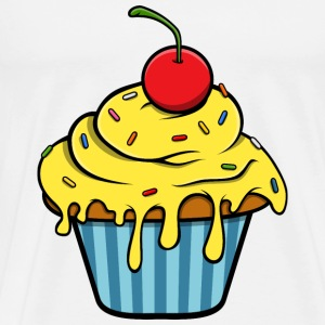 Yellow Cupcake T-Shirts - Men's Premium T-Shirt