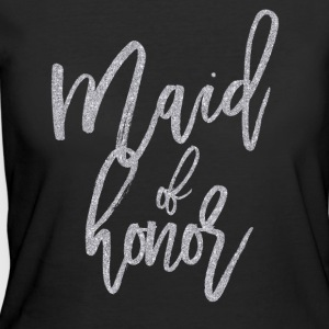 Maid Of Honor Silver Glitter - Women's 50/50 T-Shirt