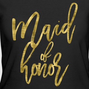 Maid Of Honor Gold Foil - Women's 50/50 T-Shirt