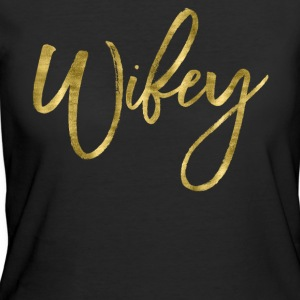 Wifey Gold Foil Effect - Women's 50/50 T-Shirt