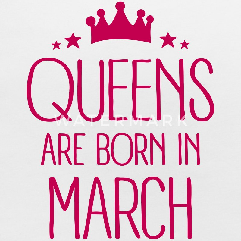 Queens Are Born In March Baby Bibs - Baby Bib