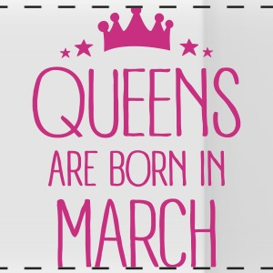Queens Are Born In March Mugs & Drinkware - Panoramic Mug