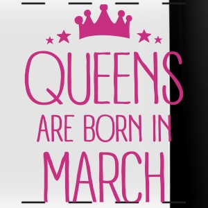 Queens Are Born In March Mugs & Drinkware - Full Color Panoramic Mug