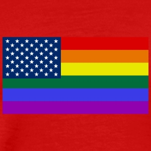 LGBT United States Flag - Men's Premium T-Shirt