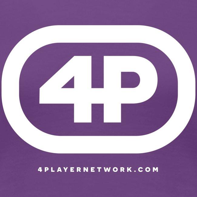 4Player Retro Logo (Solid White) - Women's T Shirt