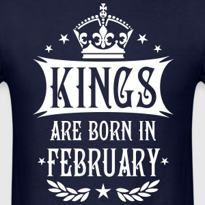 Kings are born in February King Birthday Gift Vint - Men's T-Shirt