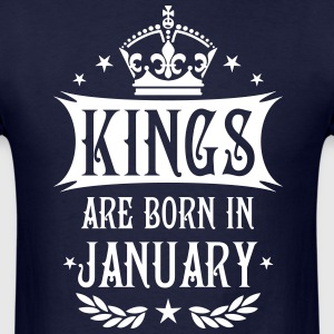 Kings are born in January King Birthday Gift Vinta - Men's T-Shirt