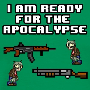 Ready For The Apocalypse 8-Bit - Men's Premium T-Shirt