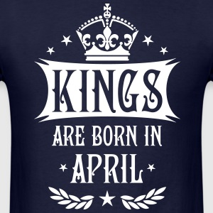 Kings are born in April King Birthday Gift Vintage - Men's T-Shirt