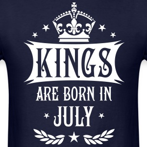 Kings are born in July King Birthday Gift Vintage  - Men's T-Shirt
