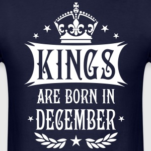 Kings are born in December King Birthday Gift Vint - Men's T-Shirt