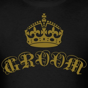 Groom Crown Elite Vintage luxury Wedding T-Shirt - Men's T-Shirt