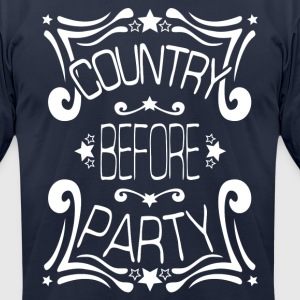 Country before Party t-shirt - Men's T-Shirt by American Apparel