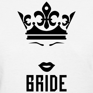 Bride Crown kissing Lips Mouth luxury Party T-Shir - Women's T-Shirt