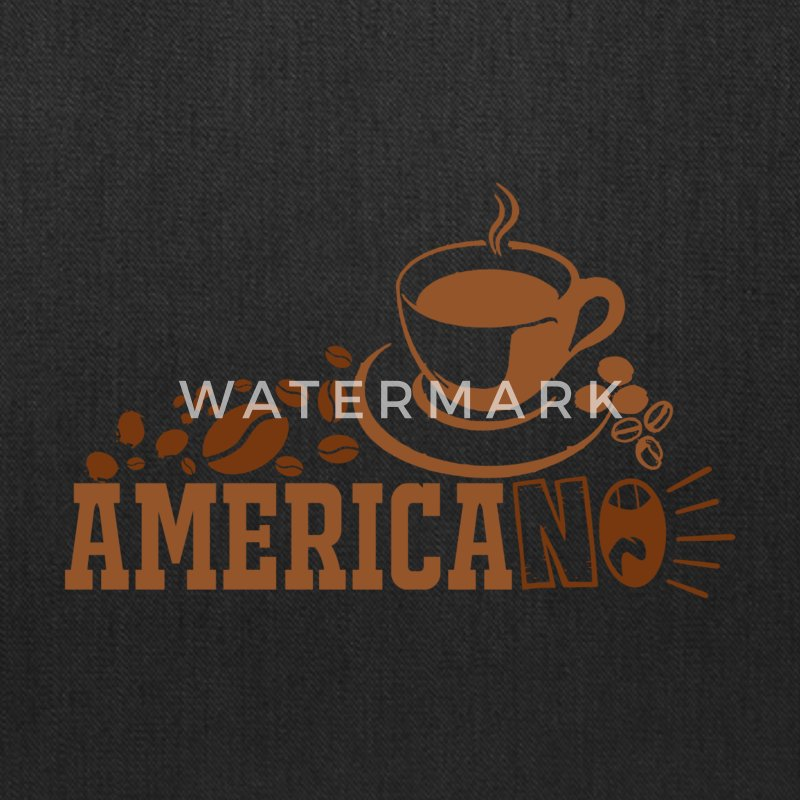 Americano Coffee Vector - Tote Bag