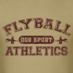 flyball athletics brown T-Shirts - Men's T-Shirt