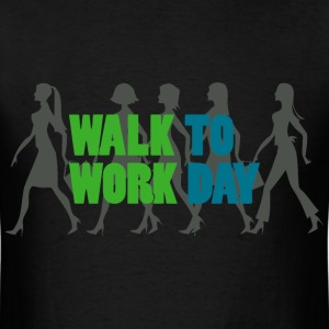 walk to work day T-Shirts - Men's T-Shirt