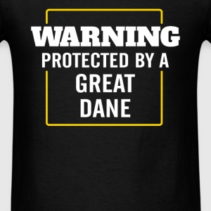 Great dane - Warning - Protected by a Great dane - Men's T-Shirt