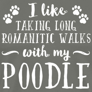 Romantic Poodle - Men's Premium T-Shirt