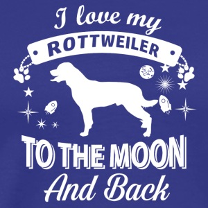 Love you Rottweiler - Men's Premium T-Shirt