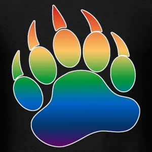 Gradient Pattern Gay Bears Pride Bear Paw - Men's T-Shirt