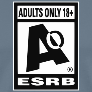 ESRB Adult Ratig Edition - Men's Premium T-Shirt