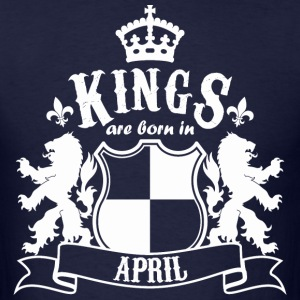 Kings are born in April - Men's T-Shirt