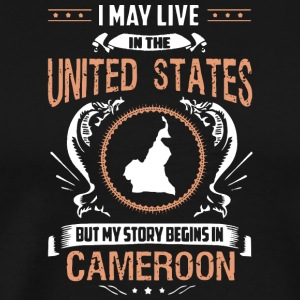 My Story Begins in Cameroon T Shirt - Men's Premium T-Shirt