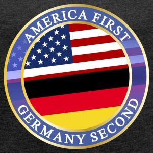 AMERICA FIRST GERMANY SECOND T-Shirts - Women´s Rolled Sleeve Boxy T-Shirt