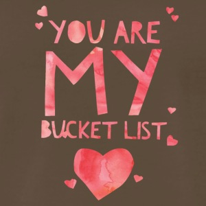 Cute Bucket List Cup - Best Gift for Him, Her - Men's Premium T-Shirt