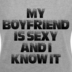 SEXY BOYFRIEND T-Shirts - Women´s Rolled Sleeve Boxy T-Shirt