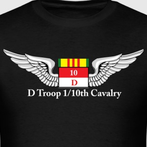 D Troop Wings Front WHITE Letters - Men's T-Shirt