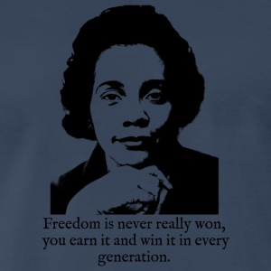 Coretta Scott King - Freedom is never really won - Men's Premium T-Shirt