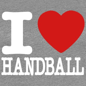 i love handball heart T-Shirts - Women's Premium T-Shirt