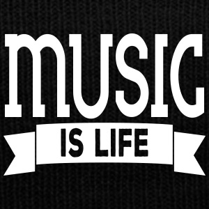 music is life Sportswear - Knit Cap with Cuff Print