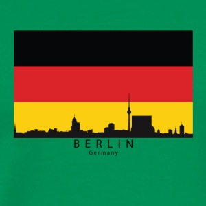 Berlin Germany Skyline German Flag - Men's Premium T-Shirt