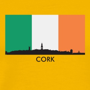 Cork Ireland Skyline Irish Flag - Men's Premium T-Shirt