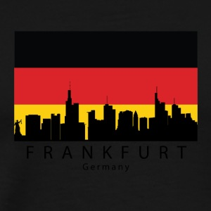 Frankfurt Germany Skyline German Flag - Men's Premium T-Shirt