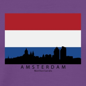 Amsterdam Netherlands Skyline Dutch Flag - Men's Premium T-Shirt