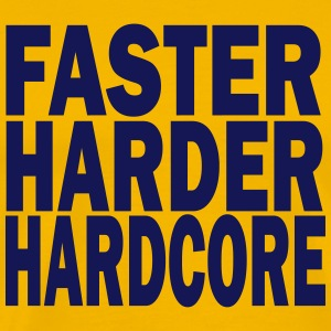 faster harder hardcore T-Shirts - Men's Premium T-Shirt