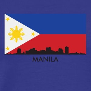 Manila Philippines Skyline Filipino Flag - Men's Premium T-Shirt